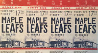 Leafs vs. Sharks First-Row Reds 4-Pack