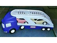 Little Tikes Car Transporter and 2 Cars