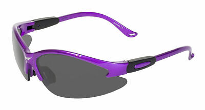 Women's Z87 Purple Safety Glasses Sunglasses Smoked Lenses Global Vision Cougar (Women's Safety Sunglasses)