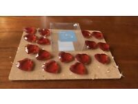 M&S Marks & Spencer Red Heart Shaped Table Decor Decorations Party Scatter