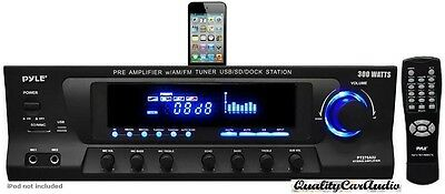 NEW Pyle PT270AIU 300W Stereo Receiver W/ iPod Dock AM/FM Tuner USB SD Input