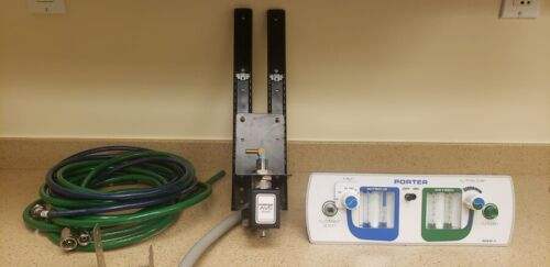 Porter MXR-1 Cabinet Flush Mount Dental Flowmeter & Supply Hoses