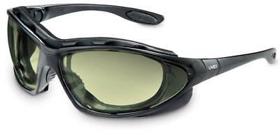 Uvex S0602X Seismic Safety Eyewear, Black Frame, Amber Uvext