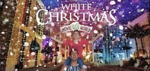 Selling White Christmas ticket at Movie World Southport Gold Coast City Preview