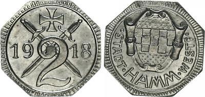 Notgeld Stadt Hamm-Westfalen 2 Pfennig 1918 vz-st