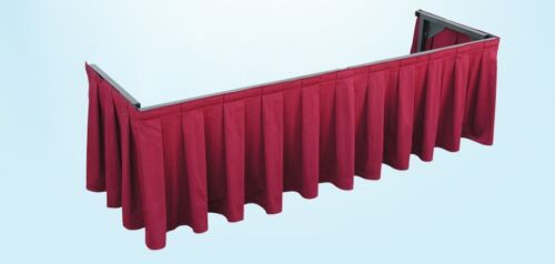 Pro CDS300 Casket Drape Trade Show Table Skirt NAVY Mortuary Funeral Display NEW