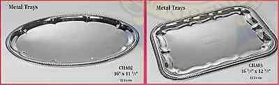 Jumbo Large Silver Plate Platter Tray Metal ...