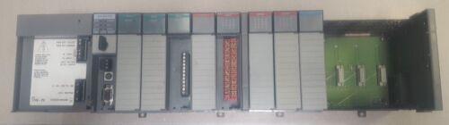 Allan Bradley SLC 500 13-slot rack w/9 modules analog digital 1747-L543