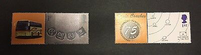 SET OF TWO EAGLE COACHES SMILERS SINGLE STAMPS SUPER RARE NO RESERVE