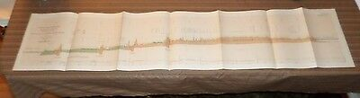 Large Lithograph Plate of the Nicaragua Route (1899-1901)Isthmian Canal Comm #50