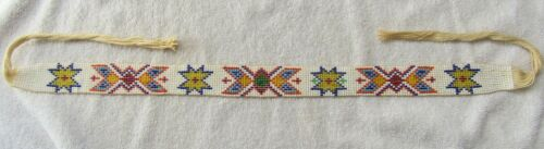 Vintage Sioux Indian Bead Beaded Beadwork Hat Band Hat Band Route 66 Souvenir
