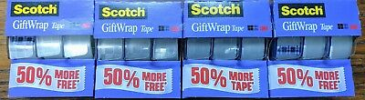 New Scotch Gift Wrap Tape 34 X 450 Satin Finish Smooth Cut Lot Of 12