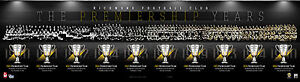 OFFICIAL RICHMOND FOOTBALL CLUB THE PREMIERSHIP YEARS HISTORY MONTAGE PRINT