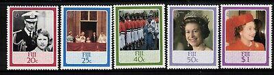 FIJI, 1986 QUEENS BIRTHDAY 5 MNH