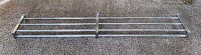 Vintage Rei Rigid Rak Tubular Chrome Metal Industrial Wall Rack - 72 Long