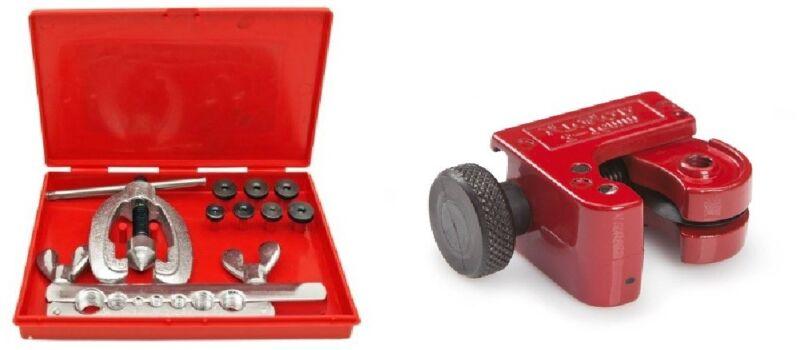 Double Flaring Tool Kit w/ Mini Tubing Cutter Brake Air Water Gas Plumbing Line