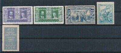D163313 Great Britain Nice Selection of MH Seals Poster Stamps