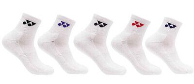 Yonex Men/'s Tennis Badminton 5 Pairs of Socks Cotton Polyester Casual 209SN003M