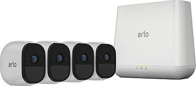 Arlo - Pro Indoor/Outdoor HD Wire-Free Security Camera System (4-Pack) - White