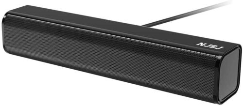 NJSJ Computer Soundbar Speaker USB Powered 3.5mm Aux Speakers for PC/Desktop New