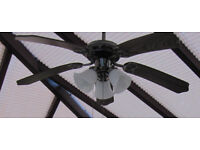 Pair of Conservatory Fans/Lights