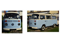 Classic VW T2 Bay Camper Van - 1972 - Tax Free - with original Trailer