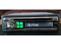 CAR HEAD UNIT ALPINE CDE 9871R MP3 CD PLAYER 4x 45 AMPLIFIER AMP STEREO RADIO