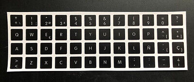 Pegatinas teclado español Apple MacBook Pro 2006-2015 Spanish keyboard stickers segunda mano  Embacar hacia Argentina