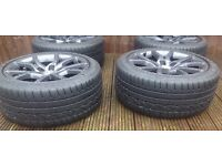 "AUDI A4/A5 GENUINE ALLOYS 18"" 7mm DUNLOP SP SPORT TYRES"