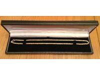 Hallmarked 9 ct Yellow Gold 16 inch Rope Chain Necklace *Unworn*