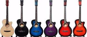 Best gift for Christmas Acoustic Guitar with Bag, String set, picks for beginners, Students, children, smaller adults