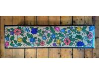 Vintage/antique shabby chic tapestry footstool