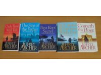 Jeffrey Archer Clifton Chronicles, 5 of the 7 books The amazing Clifton family story.