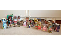 Collection of 28 Vintage Dolls from Worldwide Countries Ornaments 50's 60's 70's Retro