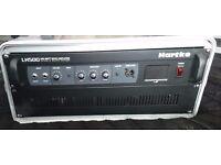 Hartke LH500 500 watt bass guitar amp amplifier with preamp valve