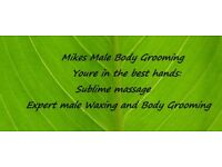 Back Waxing, Chest Waxing, Intimate Waxing, Brazilian Waxing and Manscaping, by Male Therapist
