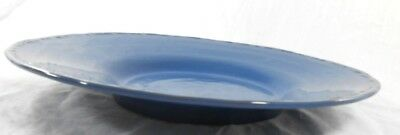 "Simon Pierce Francisco Berry Blue Art Pottery 15"" Plate (Disc. 2008) Portugal"