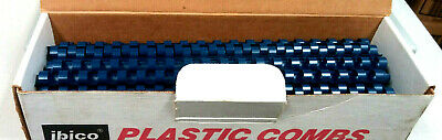 34 Plastic Binding Combs - Blue - No Box Q 100 55 Sheet Cap