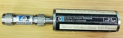 Hp 8484a Power Sensor W11708a 50mhz Reference Attenuator 30db Calibrated K78