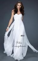 Taille 16 Robe blanche robe de bal #60