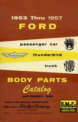 Ford Parts Manual Car Truck Book Body 1953 1957 Catalog Restore Restoration Ford