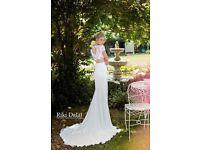 Riki Dalal Two Piece Lace Top & Wrap Skirt Wedding/Reception Dress