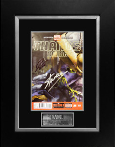 THANOS RISING #1 -JASON AARON+STAN LEE SIGNED COMIC BOOK-FRAMED