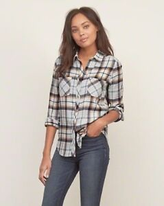 ABERCROMBIE & FITCH PLAID BUTTON DOWN SHIRT-NEW!