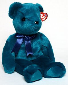 Teddy Teal Old Face the bear Ty Beanie Buddy stuffed animal