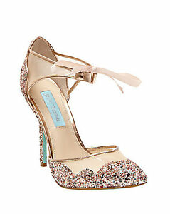 "STELA by Betsey Johnson's ""Blue"" Bridal Shoes"
