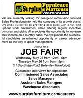 JOB  FAIR - Sales and Warehouse