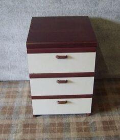 Mahogany & Grey Bedside Cabinet I.D. No. 32/8/16