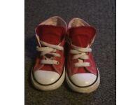 Red children's size 7 converse