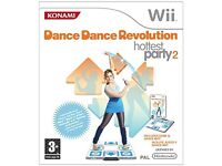 Dance Dance Revolution Hottest Party 2. Game & Dance mat for Nintendo Wii. Suitable for age 3+